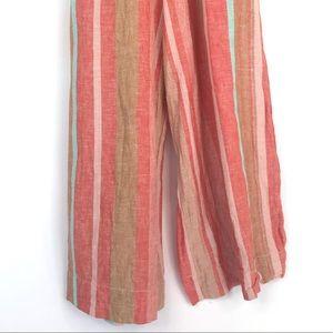 beachlunchlounge Pants & Jumpsuits - Orange beachlunchlounge size M striped romper